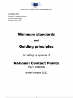 Minimum stardards and Guiding principles for setting up system of National Contact Points (NCP systems) under Horizon 2020